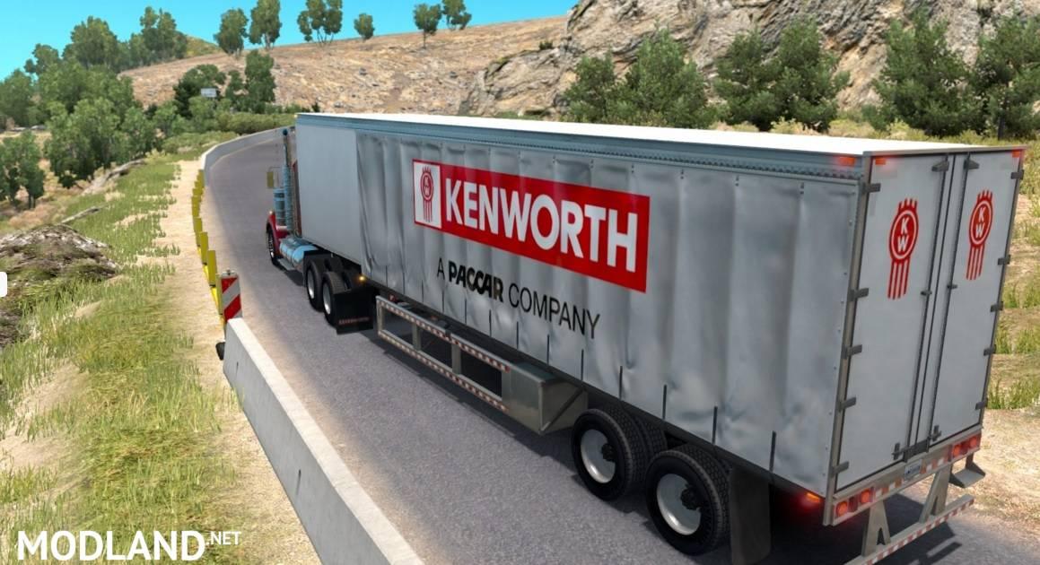 Kenworth Curtain trailer