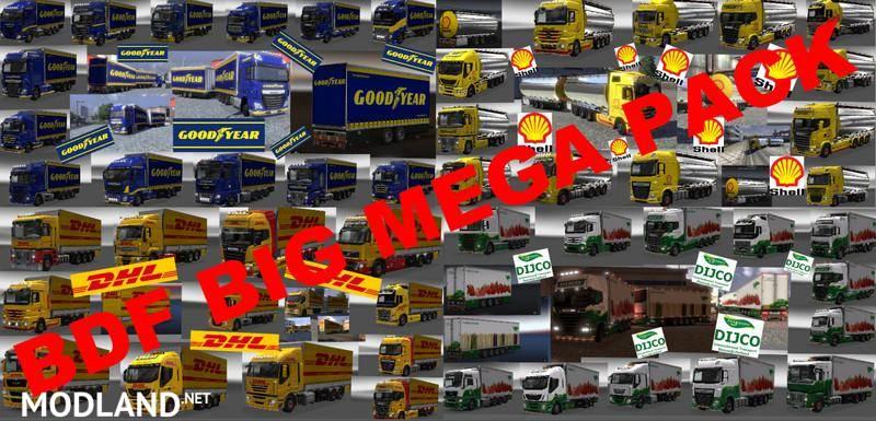 Tandem trailers from BDF BIG MEGA PACK v 2.0 for Kenworth W900 Torton V1 NEW!