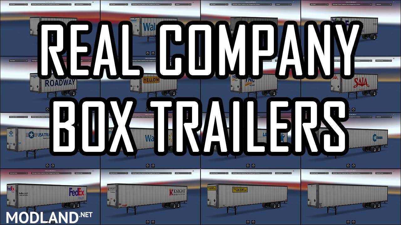 Real company box trailers v1 0 mod for american truck for American classic realty