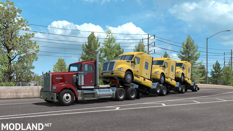 SCS truck transporter 1 35 mod for American Truck Simulator, ATS