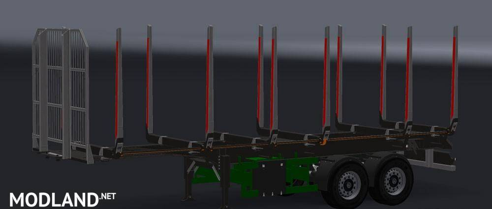Small Cargo Trailers >> Small Log Trailer mod for American Truck Simulator, ATS
