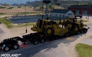 Oversized Trailer Magnitude 55l with load Scraper for ATS, 1 photo