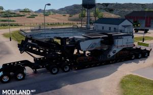 Oversized Trailer Magnitude 55l with load Milling Machine for ATS, 1 photo
