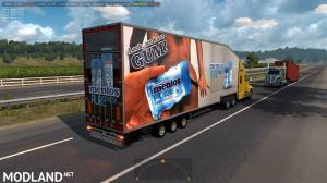 Krone Doubledeck Trailer in traffic ATS 1.36 & up, 1 photo