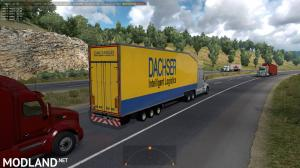 Krone Doubledeck Trailer in traffic ATS 1.36 & up, 3 photo