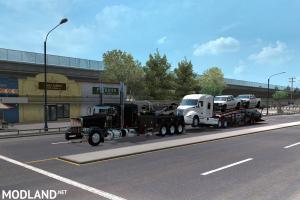 Truck transporter wrecker loads 1.35