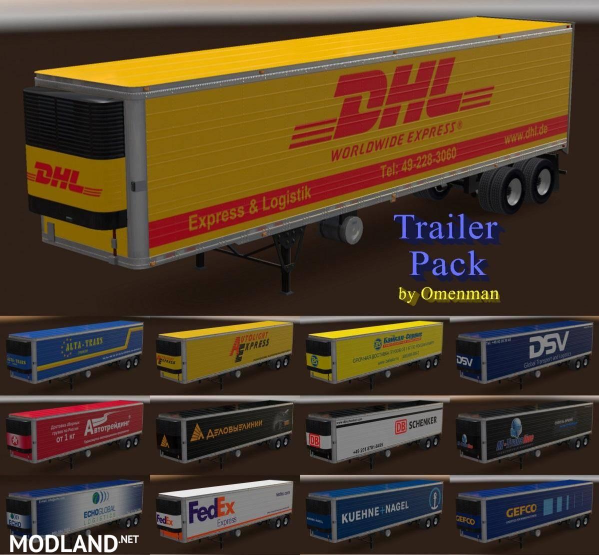Trailer Pack by Omenman v 14 2 mod for American Truck