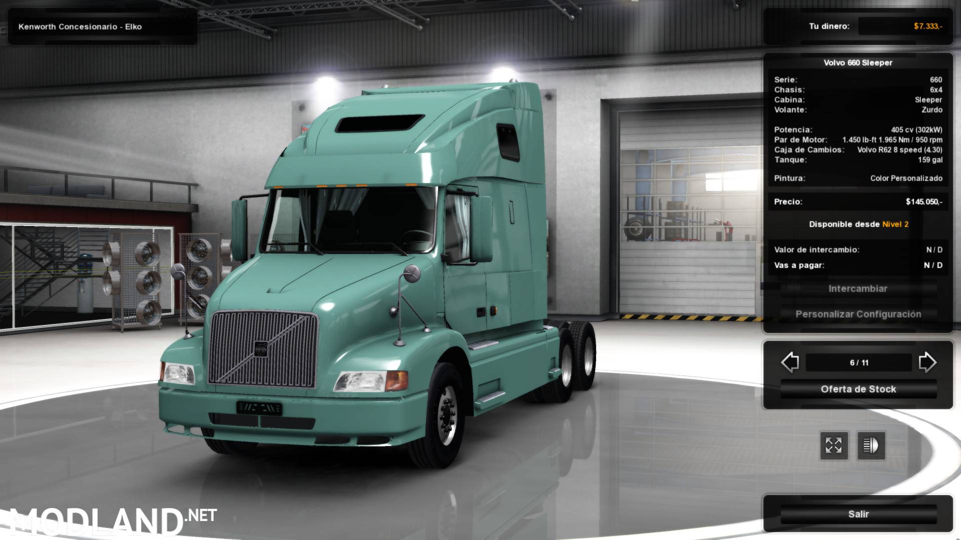 Volvo VNL 660 for ATS 1.3.x mod for American Truck Simulator, ATS