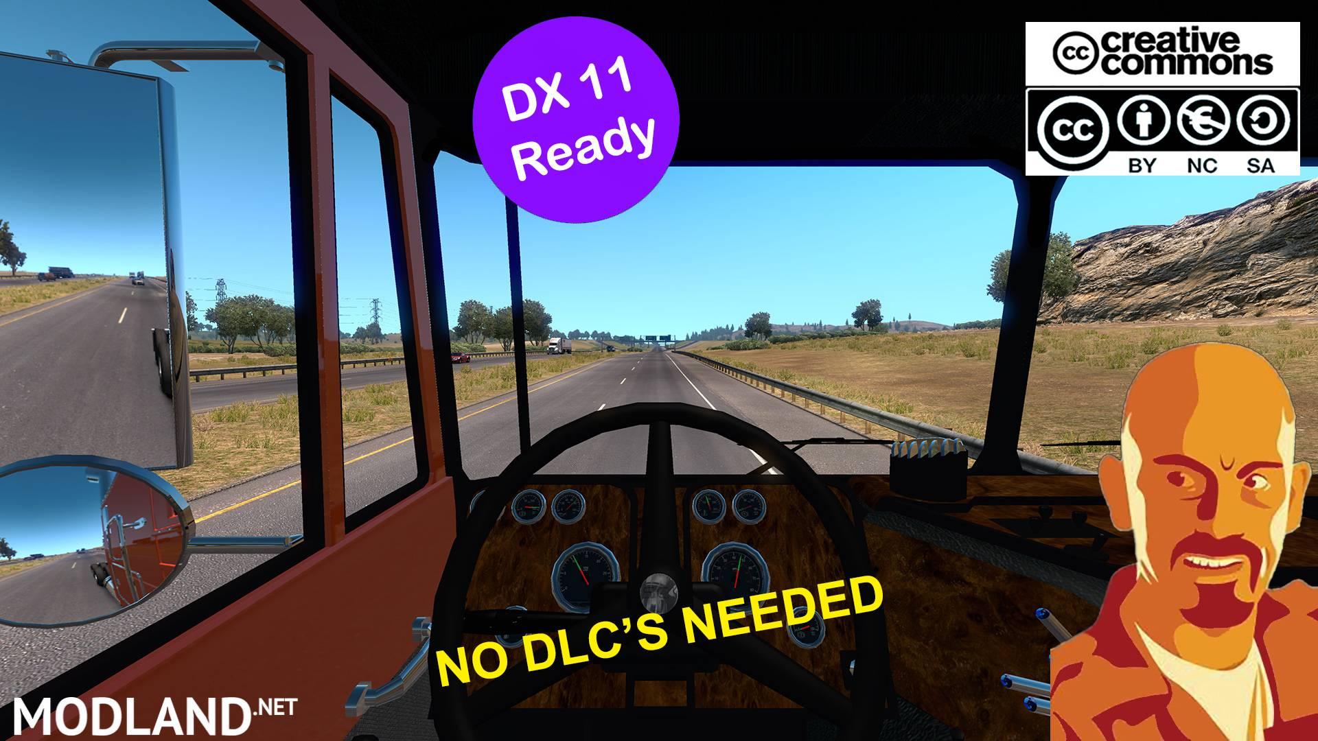 PETERBILT 352 REWORKED ATS 1 35 x DX11 FIX NO DLC NEEDED mod for