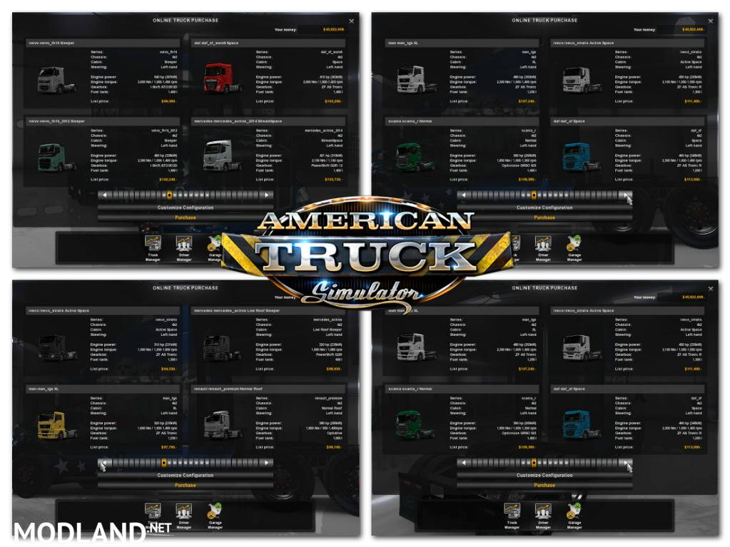 ETS 2 Trucks Pack fot ATS v 1.0 mod for American Truck ...