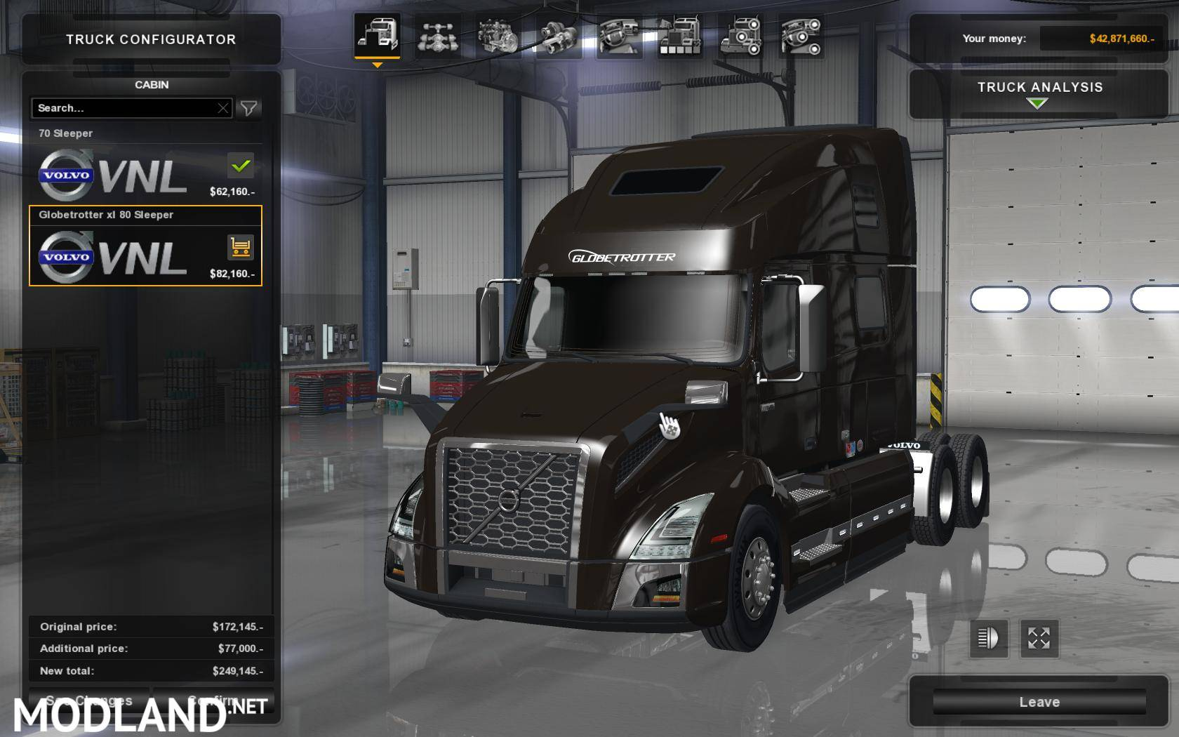 volvo vnl 760 2018 mod for american truck simulator ats. Black Bedroom Furniture Sets. Home Design Ideas