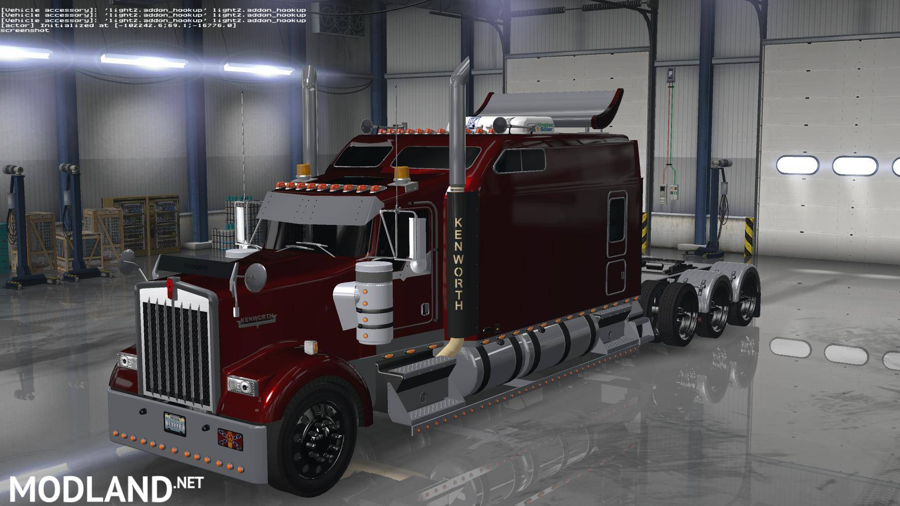 Kenworth W900 Long Remix ATS 1 5 mod for American Truck