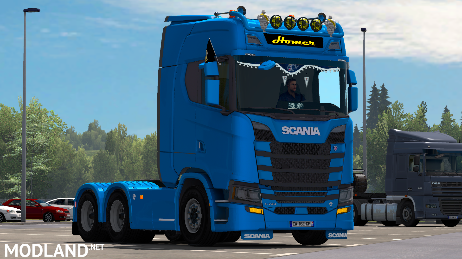 Scania S730 by HomerS Interior + DLC mod for American Truck