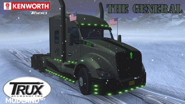 Kenworth T680 The General v1 2 (1 31) mod for American Truck