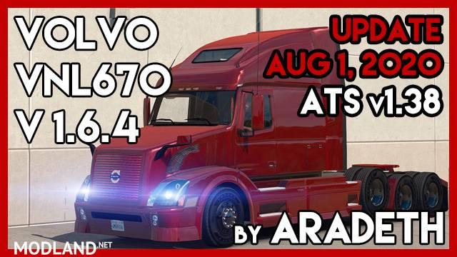 Volvo VNL 670 v 1.6.4 by ARADETH (ATS v1.38)