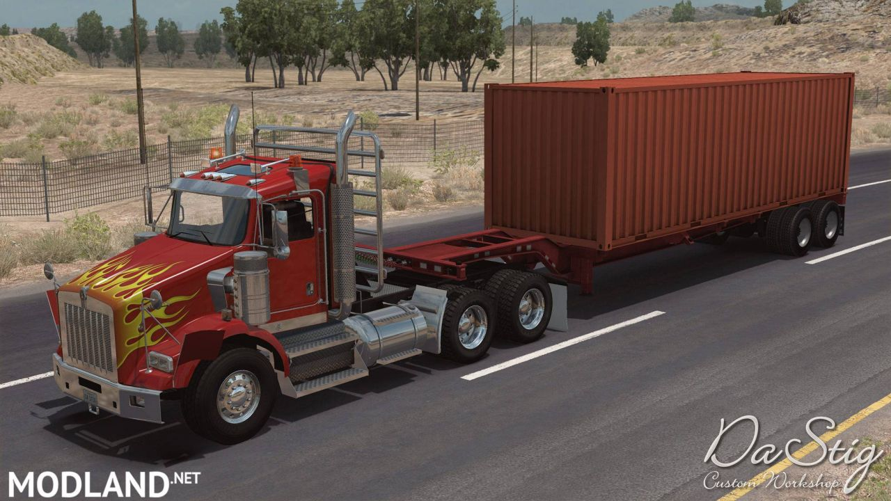 Kenworth T800 in traffic ATS 1.32 & higher