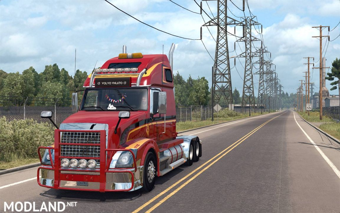Volvo VNL670 for ATS v1.4 by Aradeth (Only for ATS 1.2)