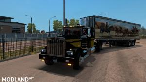 Kenworth W900A truck and Uncle_D Reefer Trailer with Smokey and the Bandit Skin, 2 photo