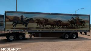 Kenworth W900A truck and Uncle_D Reefer Trailer with Smokey and the Bandit Skin, 3 photo