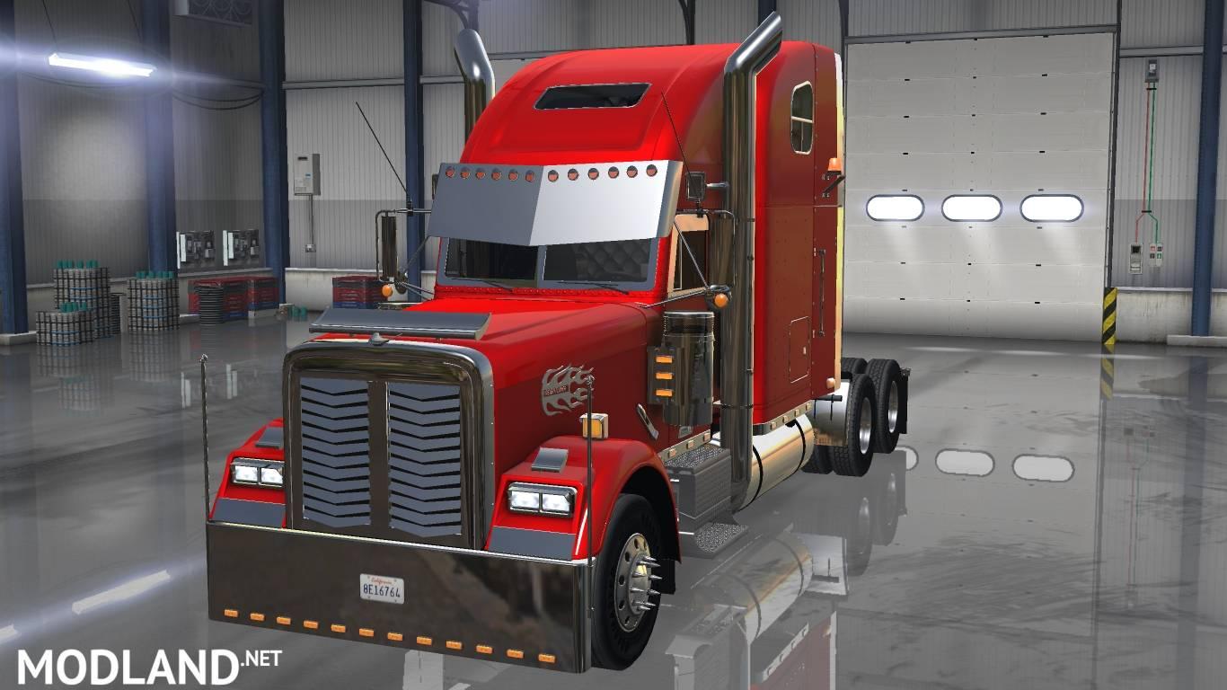 Freightliner classic xl custom v2 0 mod for american truck for American classic customs
