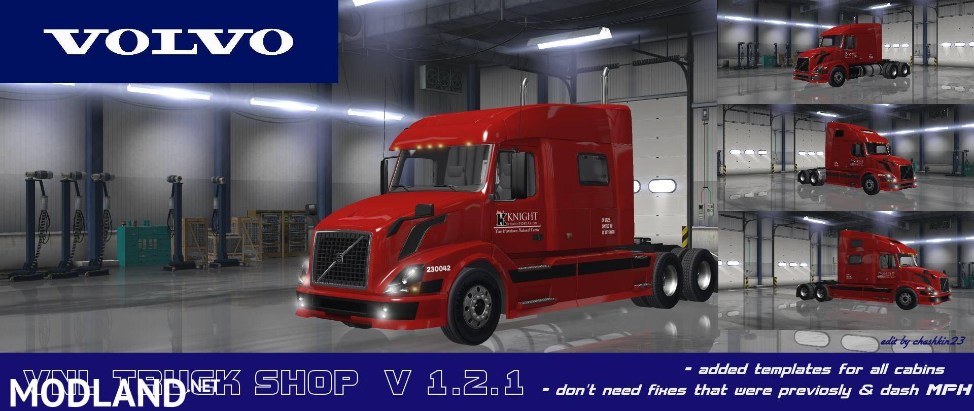 volvo vnl truck shop v1 2 1 mod for american truck. Black Bedroom Furniture Sets. Home Design Ideas