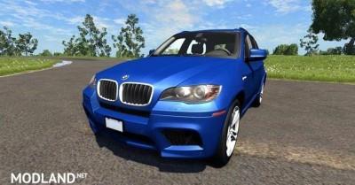 BMW X5M Blue Car Mod