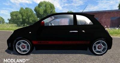 Fiat 500 Abarth Black Car Mod, 1 photo