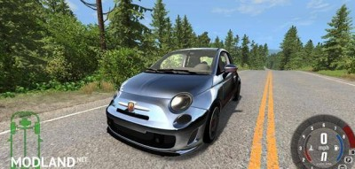 Fiat 500 Abarth White and Black Car Mod, 3 photo