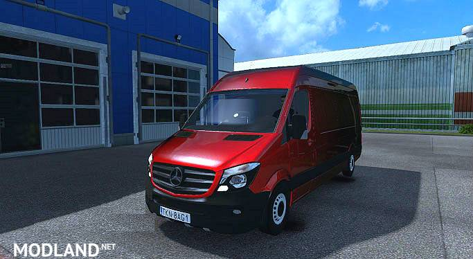 mercedes sprinter long 2015 by klolo901 and dragonmodz mod for ets 2. Black Bedroom Furniture Sets. Home Design Ideas