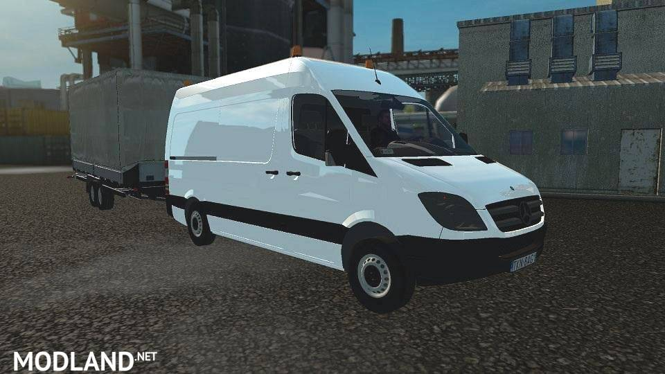 mercedes sprinter rework 1 17 mod for ets 2