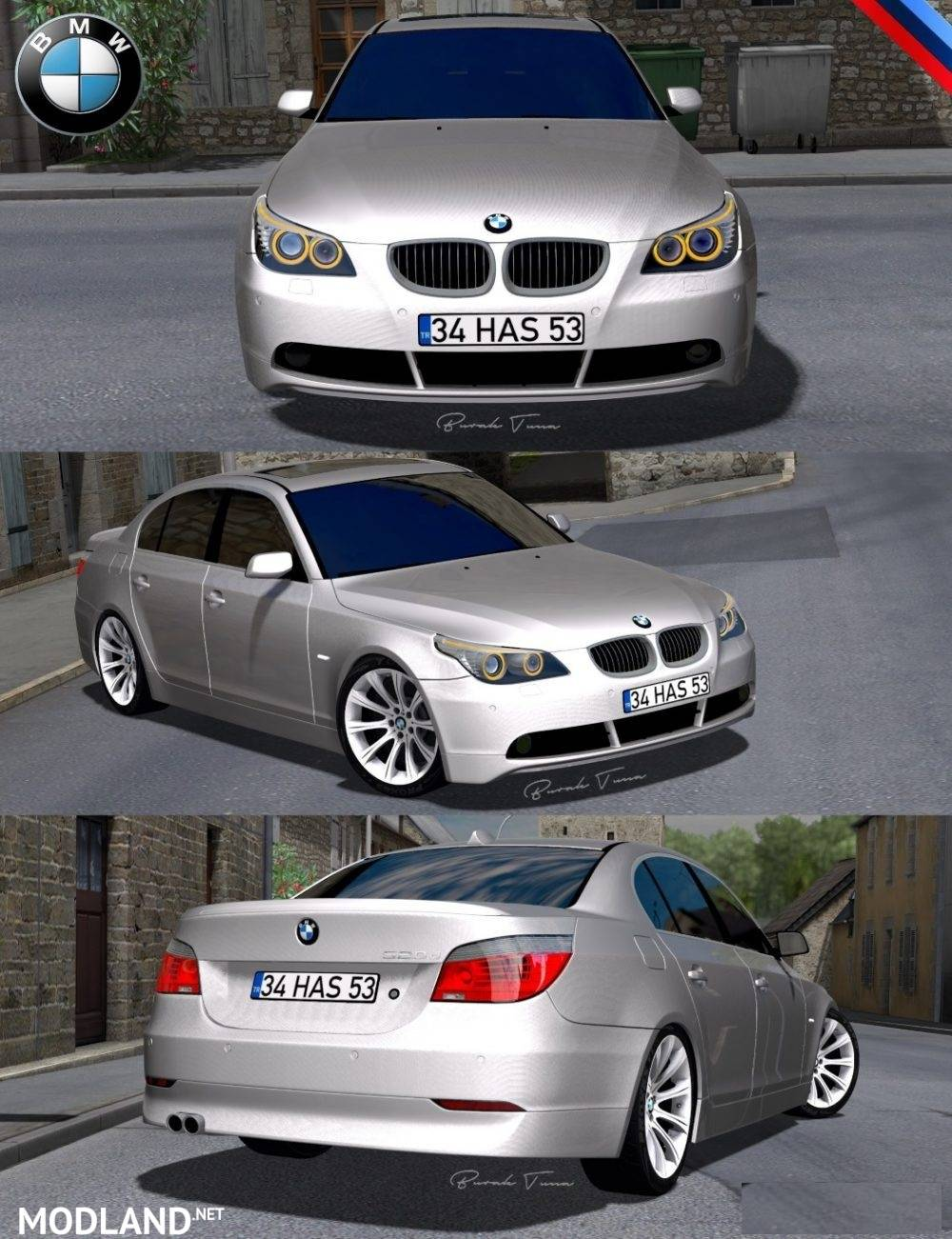Bmw 5 series e60 pack v 2 0 mod for ets 2 for Car paint simulator