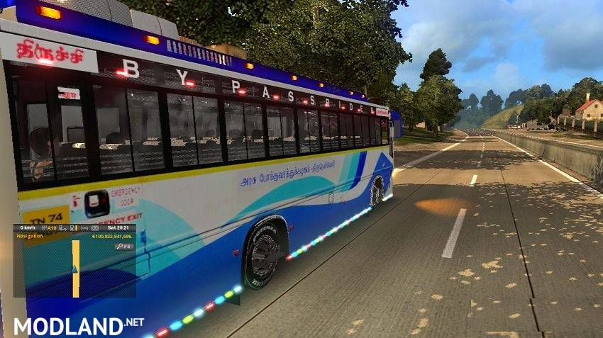 Tnstc Nagercoil To Tiruchy Bus Mod Ets 2