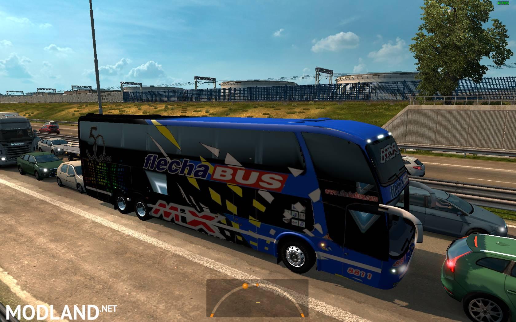 Argentina Buses In Traffic Mod For ETS - Argentina map ets2