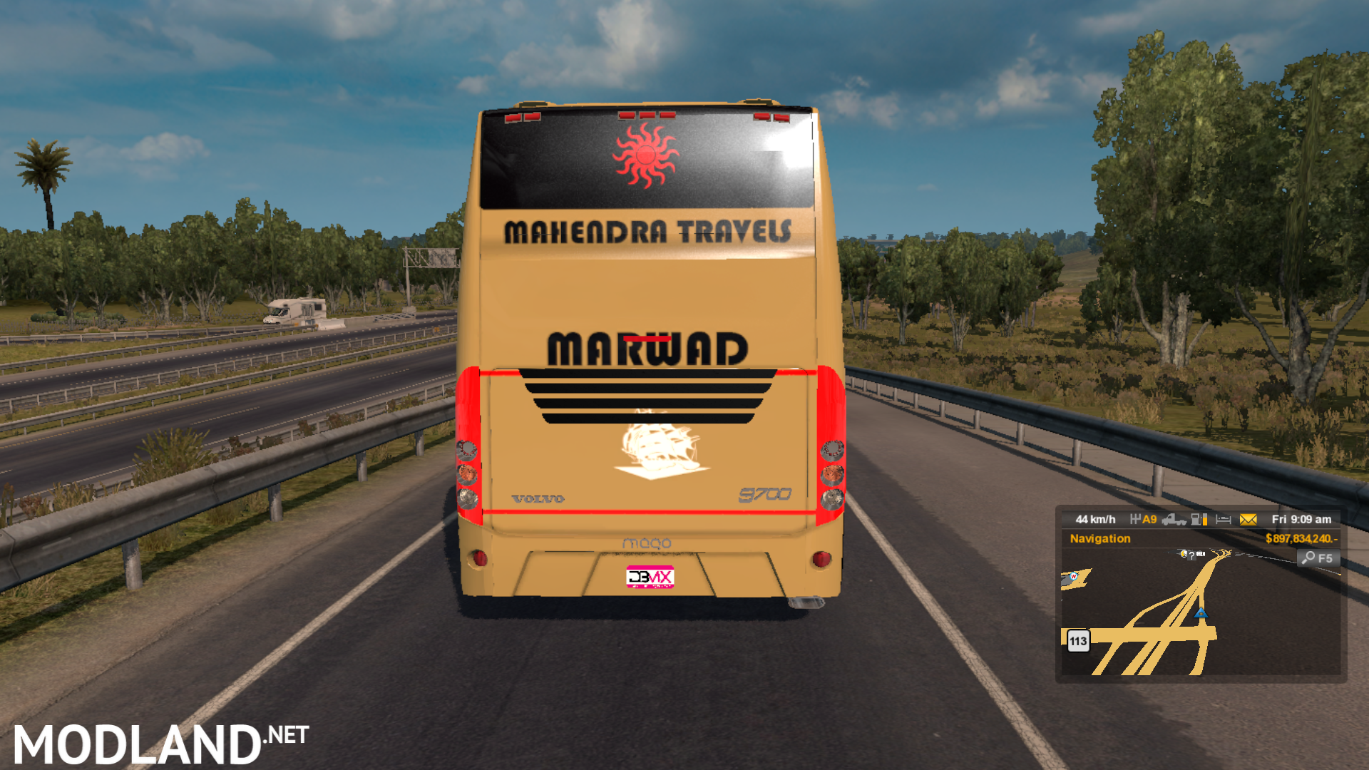 Indian sleeper coach bus Volvo mod for ETS 2