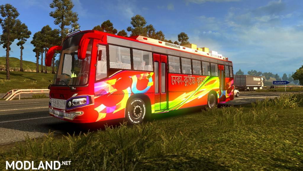 ets2 mods BD skin + Bus Bd local Bus skin HD texture