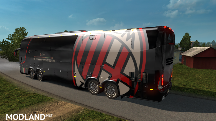Bus Marcopolo G7 1600LD AC Milan Skin mod for ETS 2