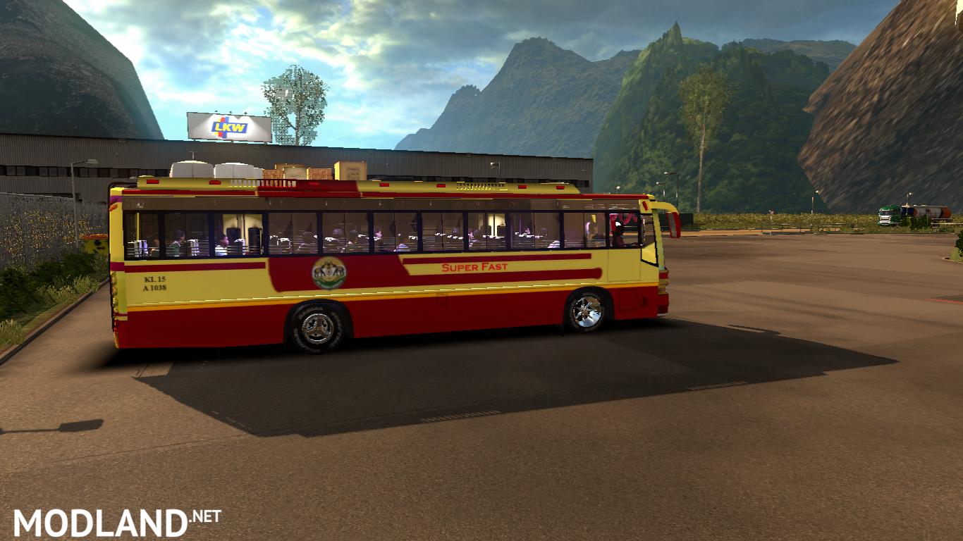 KSRTC Skin for Maruti V2 bus mod for ETS 2