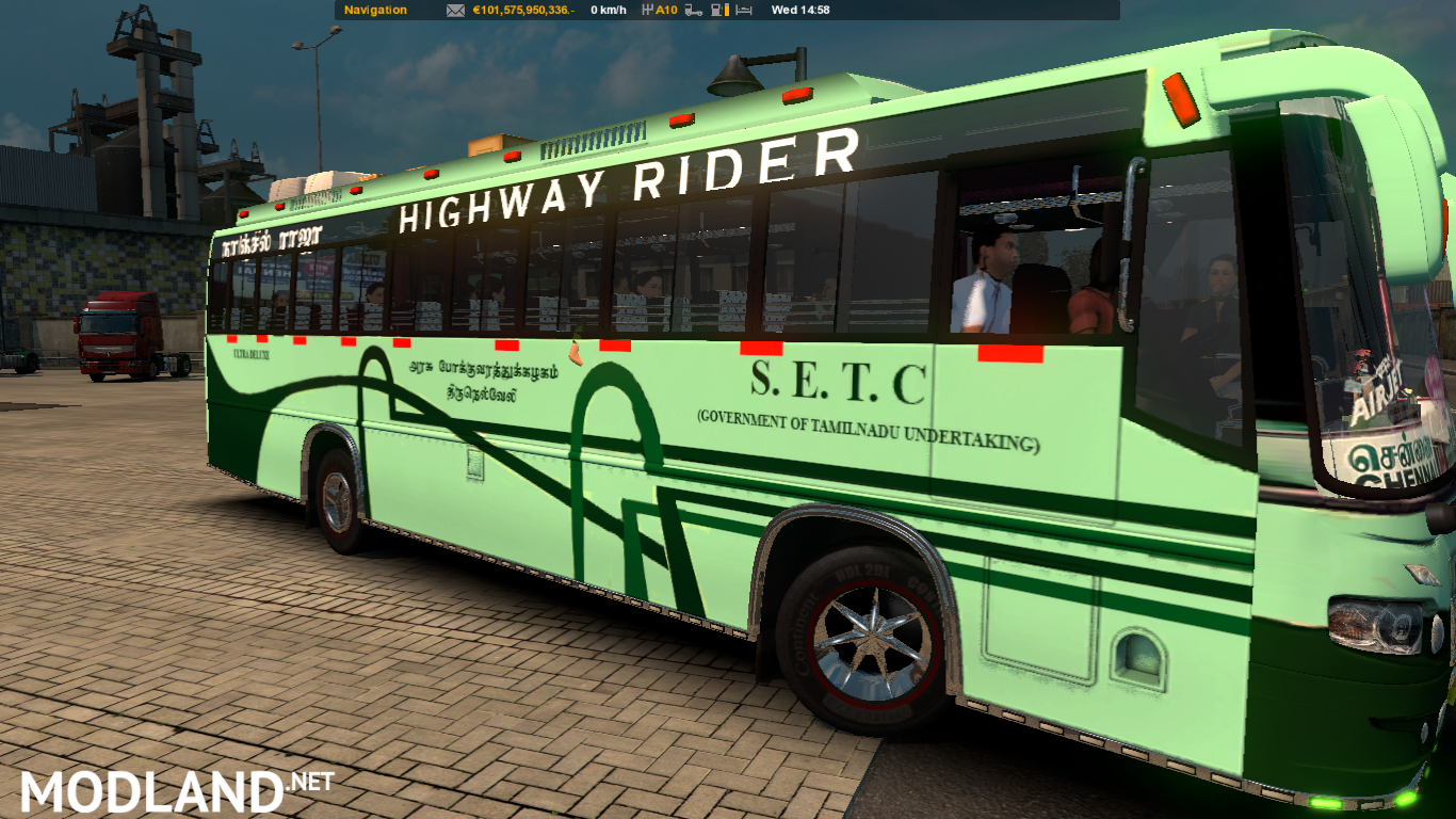 Indian bus Nanjil Raja ( TNSTC bus mod) mod for ETS 2