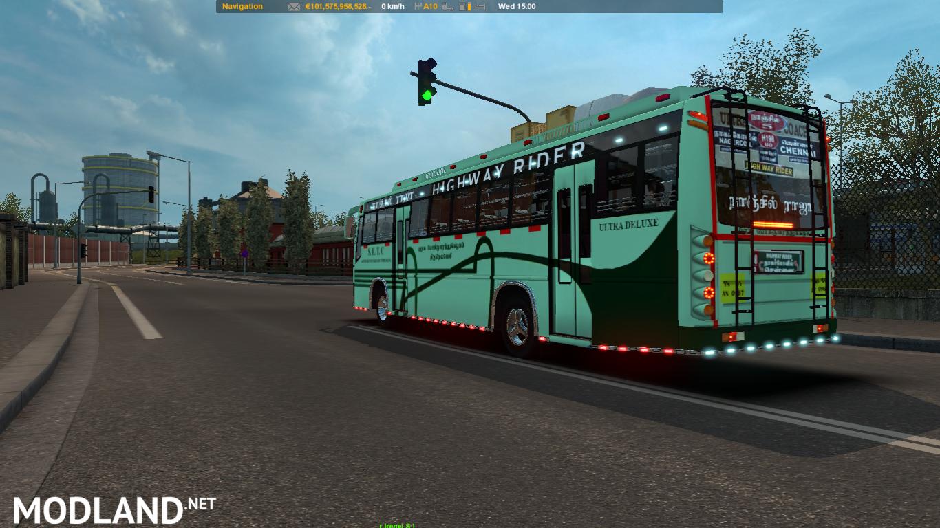 Indian bus Nanjil Raja ( TNSTC bus mod) mod for ETS 2
