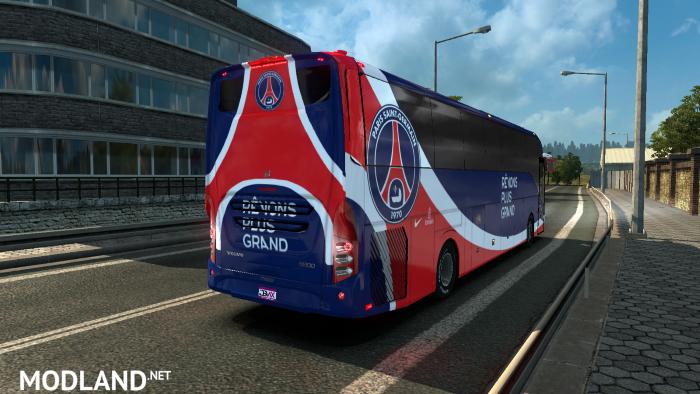 Volvo 9800 Bus Paris Saint-Germain Skin mod for ETS 2