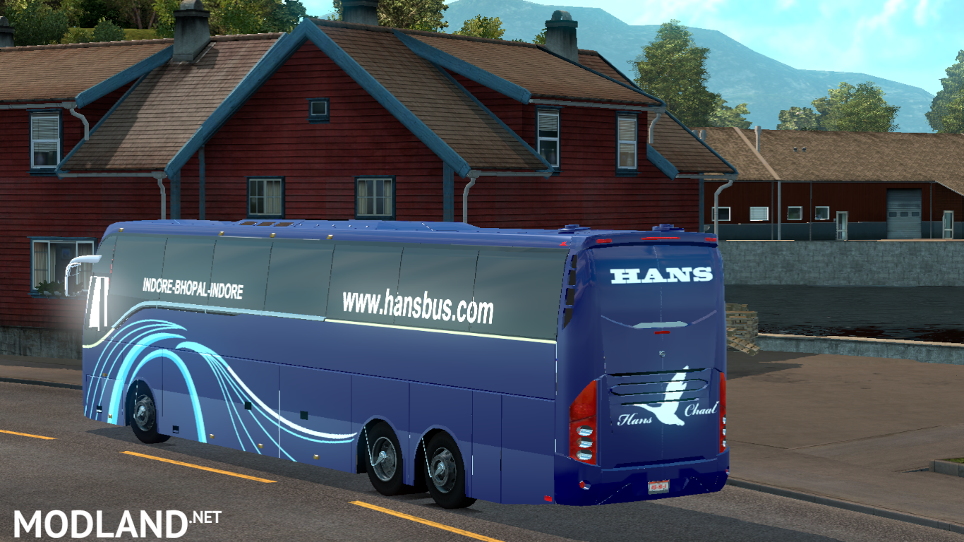 Facelifted Volvo bus mod with skins of Indian Volvo B9R