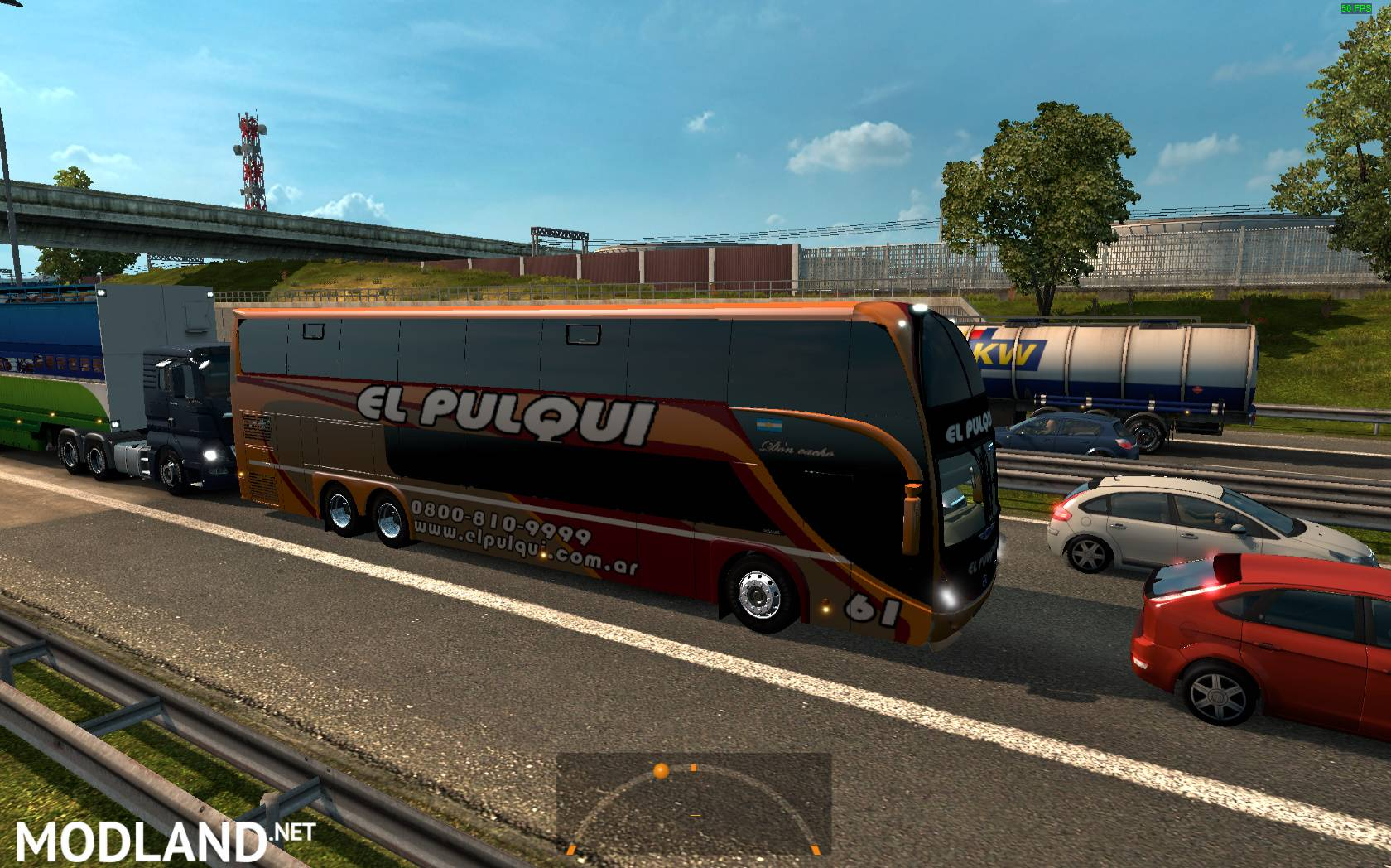Argentina buses in traffic. 1.24 mod for ETS 2