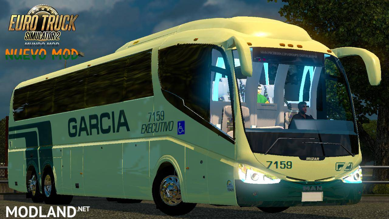 man irizar pb mod for ets 2. Black Bedroom Furniture Sets. Home Design Ideas