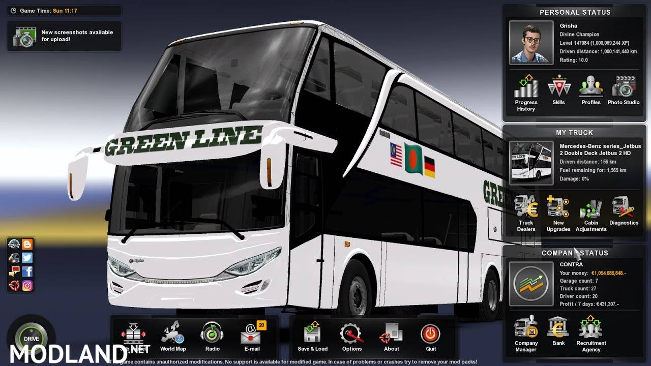 Green Line Dd With Sticker Update For 1 30 Mod For Ets 2