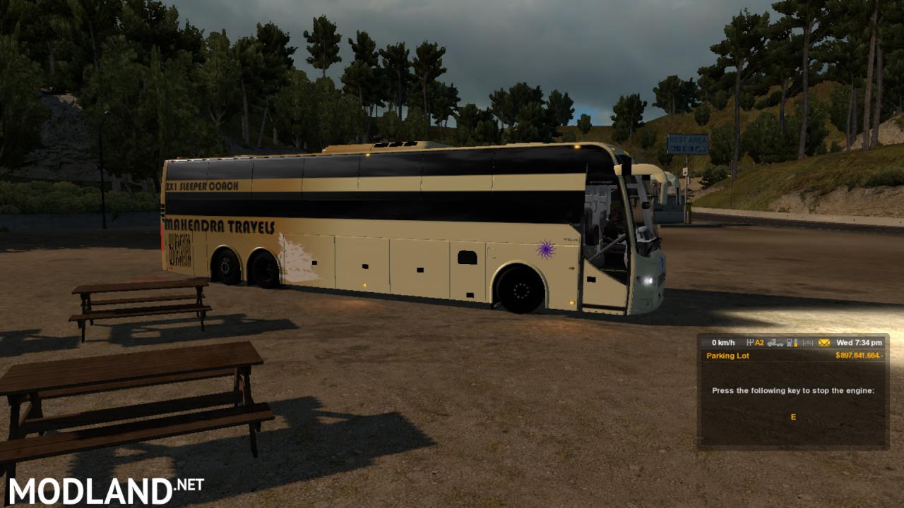 Indian sleeper coach bus Volvo