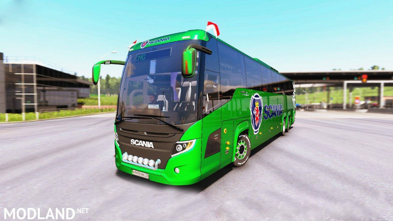 Scania Touring Bus 4K Texture for 1.35