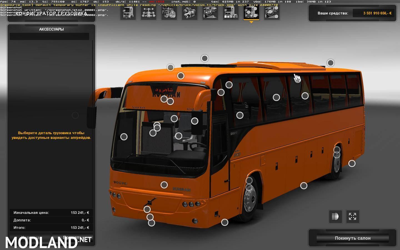 Volvo B12B TX R9700 + Passenger mod mod for ETS 2