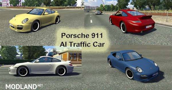 Porsche 911 Ai Traffic Car Mod For Ets 2