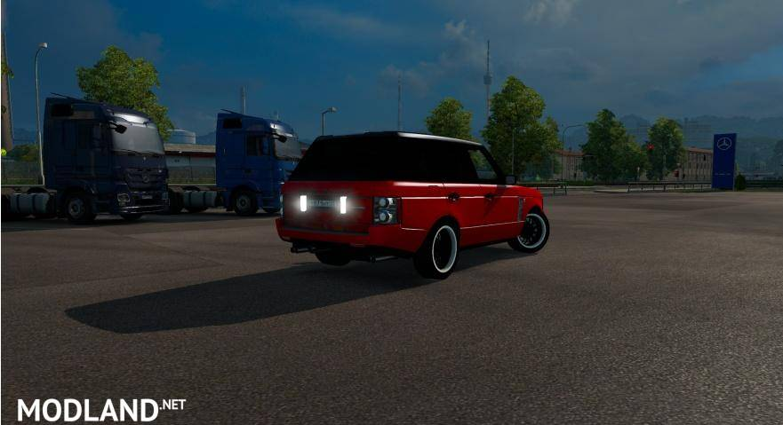 Range rover supercharged mod for ets 2 for Car paint simulator