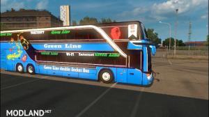 ets2 mods green line double decker setra 432 DT Bus Bd skin bd horn, 1 photo